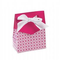 Hot Pink Tent Fold Favour Boxes (12)